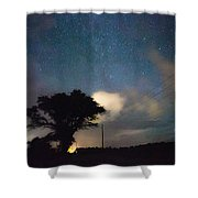 Midnight Guardian Shower Curtain
