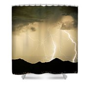 Midnight Lightning Storm Shower Curtain