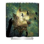 Midnight Magic Shower Curtain