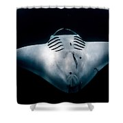 Midnight Manta Shower Curtain
