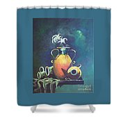 Midnight Moon Shower Curtain