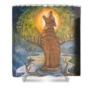 Midnight Mountain Majic 3 Shower Curtain