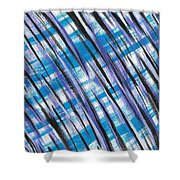 Midnight Over Spring Shower Curtain