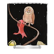 Midnight Owl Shower Curtain