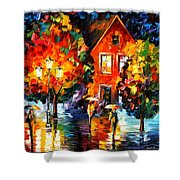 Midnight Rain Shower Curtain