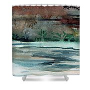 Midnight Rider Shower Curtain by Mindy Newman