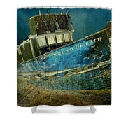 Midnight Shipwreck Shower Curtain