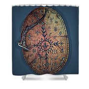 Midnight Sun Drum Shower Curtain