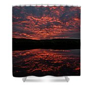 Midnight Sun In Norbotten Shower Curtain