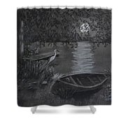 Midnight Visitor Shower Curtain