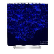 Forest Slope In Moonlight Shower Curtain