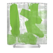 Midori- Abstract Art By Linda Woods Shower Curtain