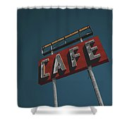 Midpoint Cafe Shower Curtain