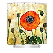 Midsummer Poppy Shower Curtain