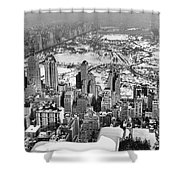 Midtown And Central Park View Shower Curtain
