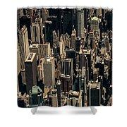 Midtown Manhattan Skyline Aerial Shower Curtain
