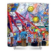 Midway Amusement Rides Shower Curtain