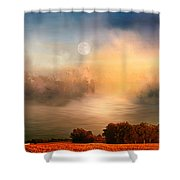 Midwest Harvest Moon Shower Curtain