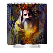 Midwinter Solstice Fire Lord Shower Curtain