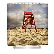Mighty Red Shower Curtain