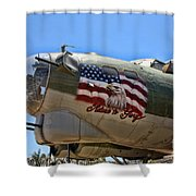 Mighty B-17 Fortress Shower Curtain