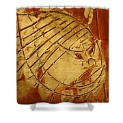 Mighty Masaai - Tile Shower Curtain