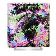 Mighty Mouse - Abstract Shower Curtain