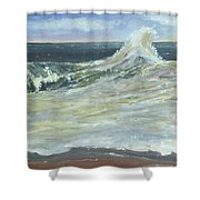 Mighty Nauset Wave Shower Curtain