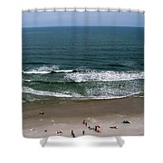 Mighty Ocean Aerial View Shower Curtain
