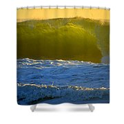 Mighty Ocean At Sunrise Shower Curtain