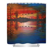 Migration At Summer's End Shower Curtain