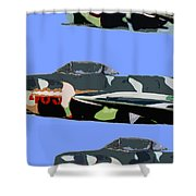 Migs In Formation Shower Curtain