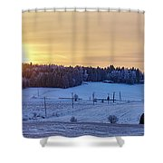 Mihari Sunset Shower Curtain