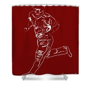Mike Trout Home Run Trot Shower Curtain