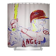Mike Trout Shower Curtain