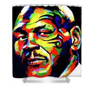 Mike Tyson Abstract Shower Curtain
