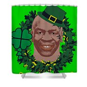 Mike Tyson Funny St. Patrick's Day Design Kith Me I'm Irith Shower Curtain