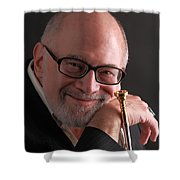 Mike Vax Professional Trumpet Player Photographic Print 3759.02 Shower Curtain