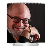 Mike Vax Professional Trumpet Player Photographic Print 3760.02 Shower Curtain