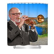 Mike Vax Professional Trumpet Player Photographic Print 3761.02 Shower Curtain