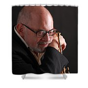 Mike Vax Professional Trumpet Player Photographic Print 3762.02 Shower Curtain