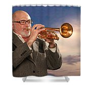 Mike Vax Professional Trumpet Player Photographic Print 3765.02 Shower Curtain