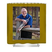 Mike Vax Professional Trumpet Player Photographic Print 3766.02 Shower Curtain