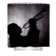 Mike Vax Professional Trumpet Player Photographic Print 3768.02 Shower Curtain
