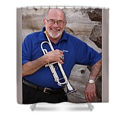 Mike Vax Professional Trumpet Player Photographic Print 3770.02 Shower Curtain