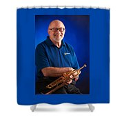 Mike Vax Professional Trumpet Player Photographic Print 3771.02 Shower Curtain