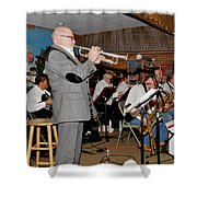 Mike Vax Professional Trumpet Player Photographic Print 3772.02 Shower Curtain