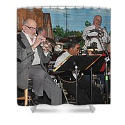 Mike Vax Professional Trumpet Player Photographic Print 3773.02 Shower Curtain
