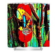 Mike's Art Fence 128 Shower Curtain
