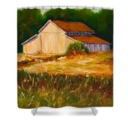 Mike's Barn Shower Curtain